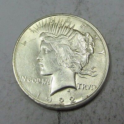 1922 Peace Dollar // LOW MINTAGE! // 90% Silver (P913)