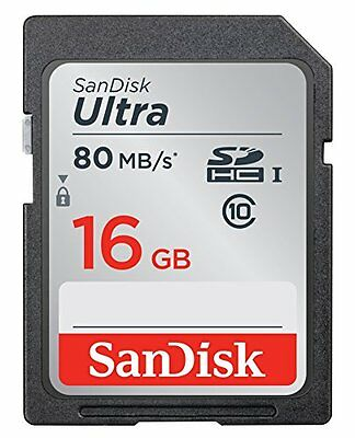 SanDisk Ultra 16GB Class 10 SDHC Memory Card Up To 80MB/s Newest Version!!