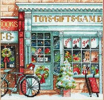 """Dimensions Gold Counted Cross Stitch kit 6"""" x 6"""" ~ TOY SHOPPE #70-08900 Sale"""