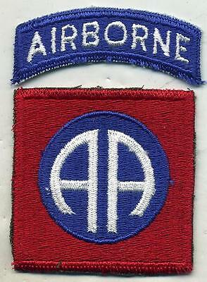 Vintage US Army 82nd Airborne Patch W/Airborne Tab Cut Edge