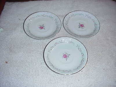 "Royal Swirl Saucers 5 3/4"" Fine China Japan (set of 3)"