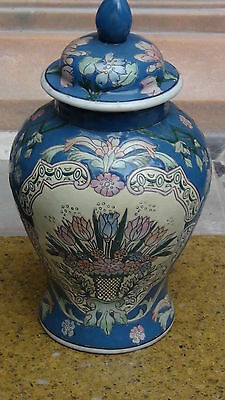 Vintage Chinese Ginger Jar With Lid  And Stand,marked To Base