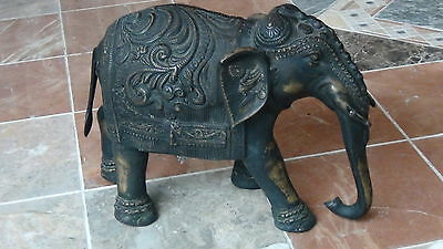 Antique 19C  Chinese Very Large Bronze Ornamental Elephant Statue
