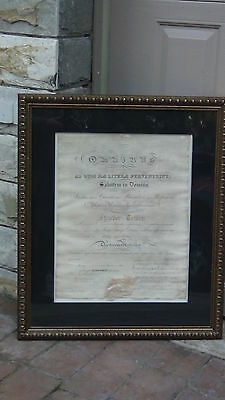 ANTIQUE 1838c DOCTOR OF MEDICAL DIPLOMA,TRANSYLVANIA UNIVERSITY,SIGNED BY CLAY