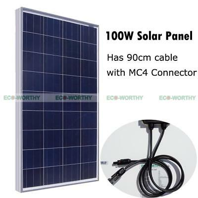 100W Watt 12V Solar Panel Power for Cabin RV Boat Charger Off Grid Home System