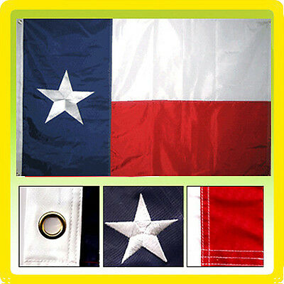 3x5 Ft TEXAS Flag Embroidered TX American Nylon Lone Stars USA Flag Deluxe