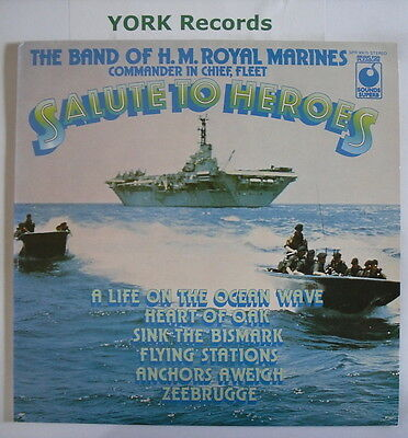 BAND OF HM ROYAL MARINES - Salute To Heroes - Excellent Con LP Record SPR 90075
