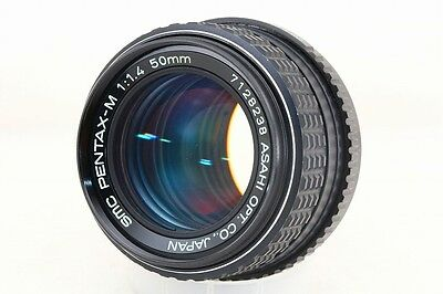 Asahi Pentax-M SMC 50mm f/1.4 1:1.4 From Japan Excellent Condition #25396