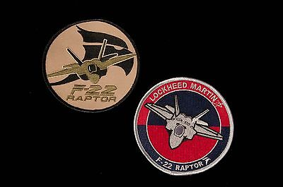 2 x USAF Lockheed F-22 Raptor Patches - 5th Generation Air Superiority Fighter