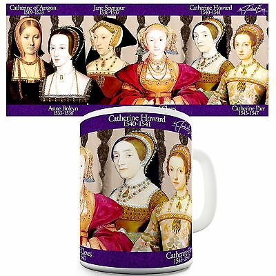 Henry VIII Wives Print History Educational Theme Mug