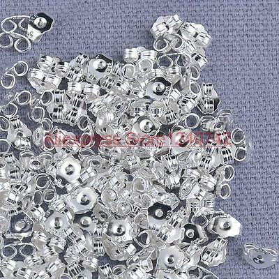spare Silver Butterfly Earring Backs Scrolls Push Fit 925 replacement Quality UK