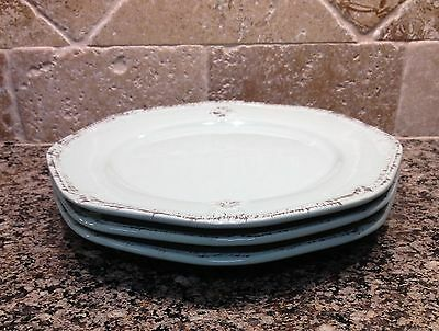 "Cuisinart Set of 3 Stoneware Green French Country 8"" Salad Plates(11dc-24)-NWT"