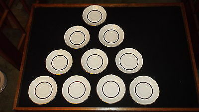 Alfred Meakin Perfection Gold Saucer Set of 10
