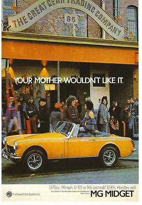 Vintage MG Midget Advertising Poster A3 reprint