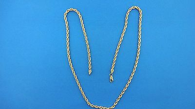 """14k Yellow Gold 4 mm Diamond Cut Rope Chain Necklace 22"""" 27.7 grams"""