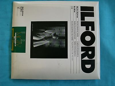 ILFORD MGIV FIBER Double Weight 25 Sheets Photography Paper MATT 8 x 10in Sealed