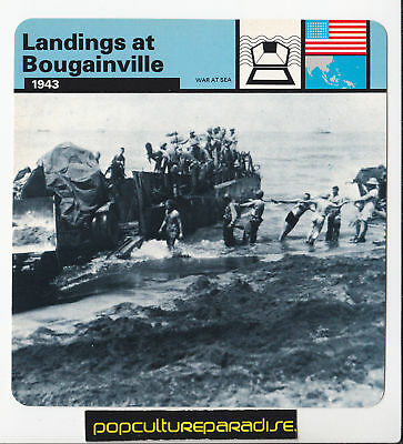 LANDINGS AT BOUGAINVILLE 1943 US Marines WW2 PHOTO CARD