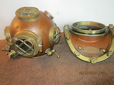 Early Replica Of Mark V,  W.w.2 Diving Helmet