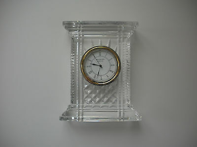 WATERFORD Crystal Atrium Clock Large 7 inch - Made in Ireland, NIB