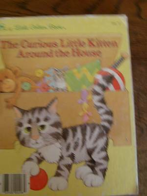 Vintage 1986 Little Golden Book THE CURIOUS KITTEN AROUND THE HOUSE #206-57