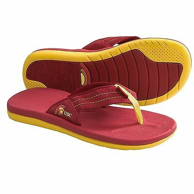 University Of Southern California Sandals College Rubber Flip-Flops Mens Size 10