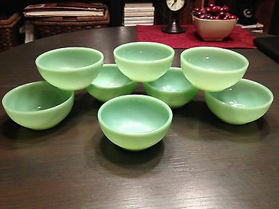 """Jadeite Fire King 5"""" Chili/Cereal Bowls (Set Of Eight)"""