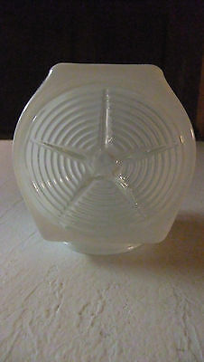 Vtg Art Deco Glass Outdoor Porch Bathroom Light Frosted Globe - Star Design