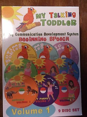 MY TALKING TODDLER EARLY COMMUNICATION DEVELOPMENT SYSTEM  VOLUME 1- 9 DISC SET