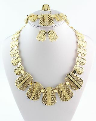 2015 Jewelry Set Vintage Jewelry Gold Plated Wedding Necklace Sets