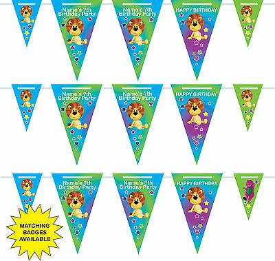 Personalised Raa Raa the Noisy Lion Birthday Bunting 3m-15 pendants, name/age