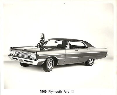 1969 Plymouth Fury 3, Period Press Photograph.