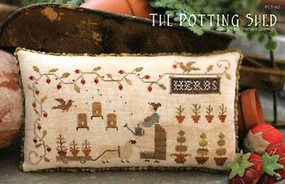 THE POTTING SHED SAMPLER-CROSS STITCH CHART-COUNTRY STITCHES