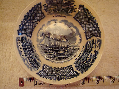 Alfred Meakin Fair Winds USS Portsmouth Blue Bowl