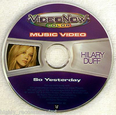 Video Now Color: Hilary Duff - So Yesterday - Music Video