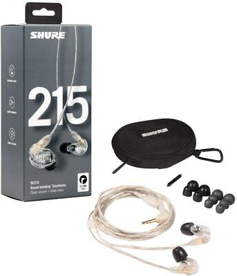 SHURE SE215CL CLEAR Auricolari Professionali Dinamici + Kit + Bag NEW GARANZIA