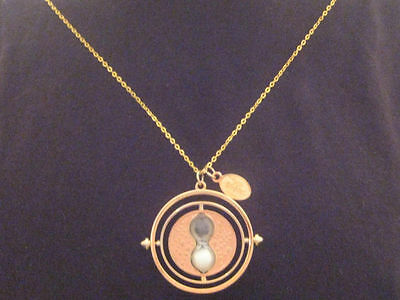 WIZARDING WORLD OF HARRY POTTER HERMIONE TIME TURNER 14k GOLD NECKLACE RARE L@@K