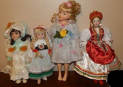 *Spirited - ANOTHER Set of 4 Dolls - Europeans & Friends? frm apparitional store