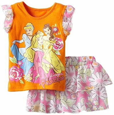Disney Toddler Girls Princess Clothes Skort Outfit Set 2 Ps Top Size  2t 3t 4t
