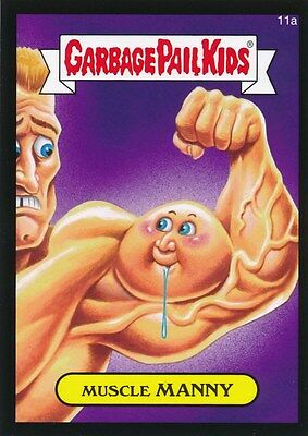 11a MUSCLE MANNY 2015 Garbage Pail Kids GLOSSY BLACK BORDER