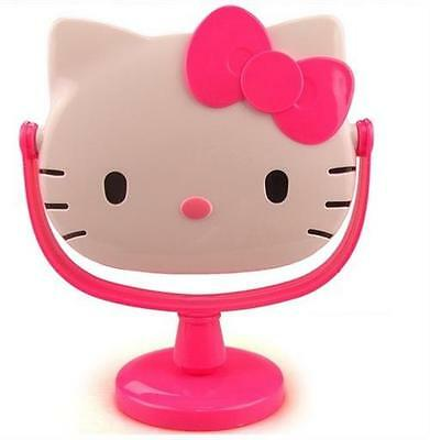 1X Cute Pink Hello Kitty Stand Cosmetic Mirror Make Up Mirror,Free Shipping