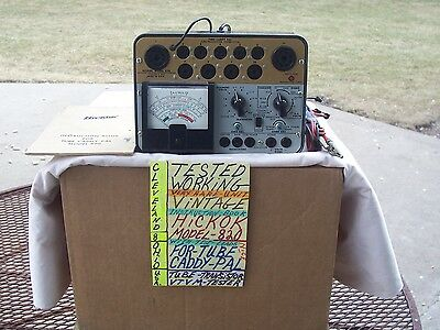 TESTED WORKING  VINTAGE  HICKOK MODEL 820  VERY  NICE  RARE TUBE 6BQ512AX7 6L6GC