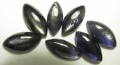 15.30 CTS 7 PIS 100%NATURAL IOLITE MOON GEMSTONE LOT MARQUISE CABOCHON   S382