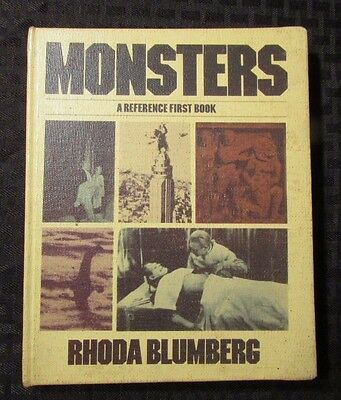 1983 MONSTERS A Reference First Book by Rhonda Blumberg HG VG Library Copy