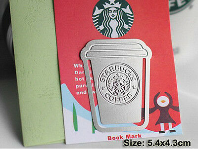 1pc Starbucks Metal Clip-On Bookmark Vintage Book Mark mini Envelope Gift STB097
