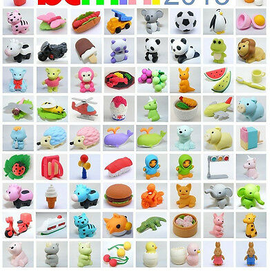 Japanese IWAKO erasers MIXED THEMES 20P easter reward googies bag valentines