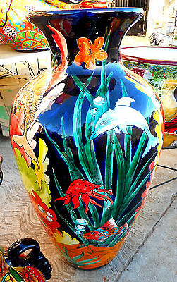 Large Hand Painted Talavera Vase