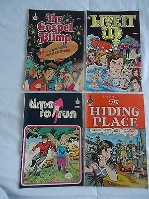 VINTAGE SPIRE CHRISTIAN COMICS 1973-76 (LOT OF 4)