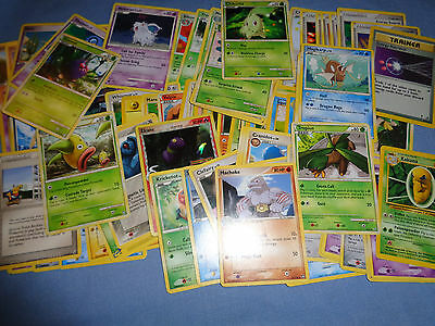 Huge Lot of Pokemon Cards, Misc. Grass, Fire, Water, etc.  75+