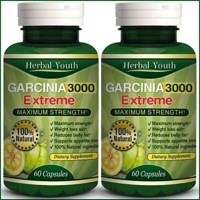 3 BOTTLES ◆ 180 GARCINIA CAMBOGIA Capsules 3000mg Daily UK CHEAPEST Diet Pills