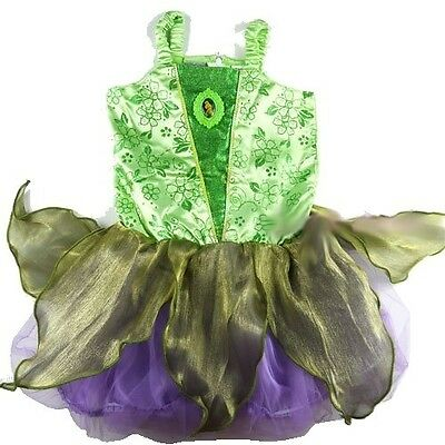 NEW Sz 2~8 DISNEY TINKERBELL FAIRY COSTUME DRESS UP GIRLS KIDS PARTY BIRTHDAY